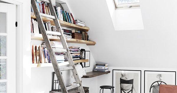 ... Bergsøe ... my dream! - Bruine lederen stoelen, Ladder en Bruin leder