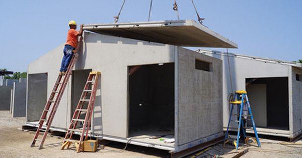 Construcci n de una peque a casa con concreto premoldeado - Construccion de casas modulares ...