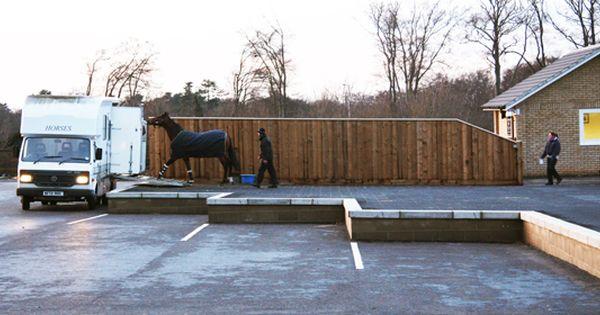 Newmarket Equine Hospital Horse Trailer Horsebox Loading Area Veterinary Hospital Horse Barns Hospital