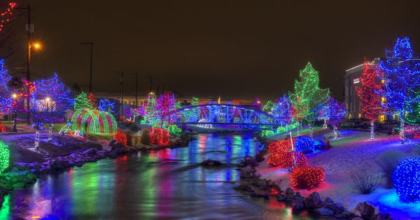 Light display in downtown Caldwell, Idaho. | Favorite ...