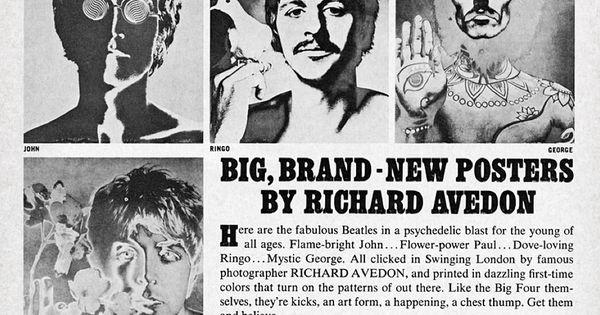 Beatle Posters by Richard Avedon (1968) | The Swingin ...