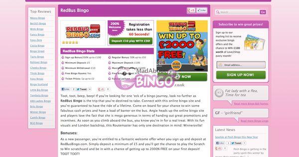 redbus bingo login