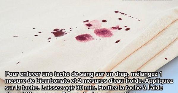 Le secret pour enlever facilement une tache de sang sur un drap - Comment enlever tache de sang ancienne ...