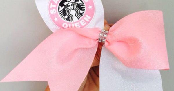 Starbucks queen pink and white tick tock cheer bow mo os - Ideas para porras ...