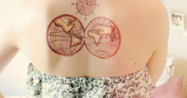 compass tattoo idea