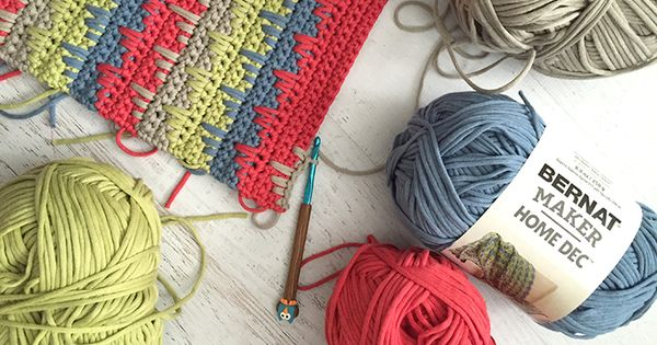 I Have A Fun New Crochet Project To Show You Using Bernat