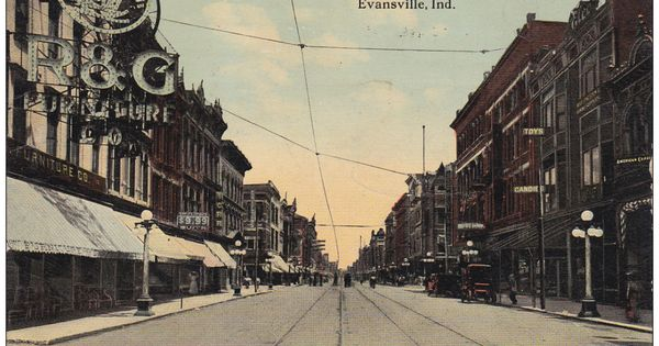 Evansville Indiana 1900 1910 S Main Street From First Street