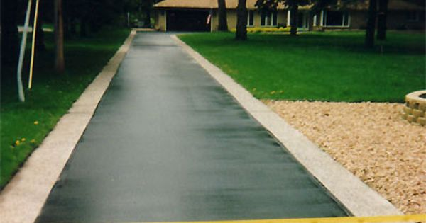 Asphalt Drive With Ribbon Curbing Cabin Driveway Ideas