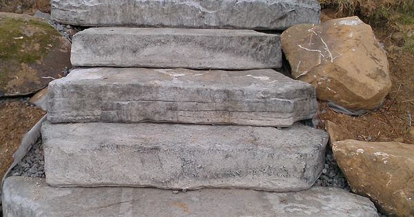 Concrete Steps Made To Look Natural Steps Pinterest