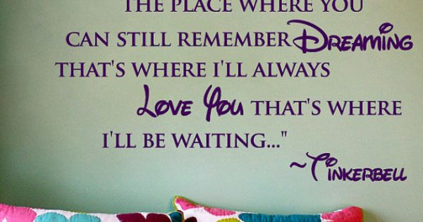 Disney quote in little girls room?
