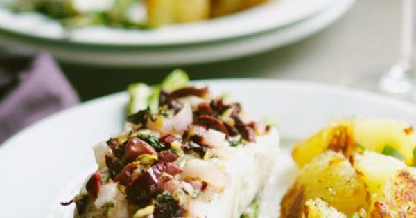 Halibut, Asparagus and Olives on Pinterest