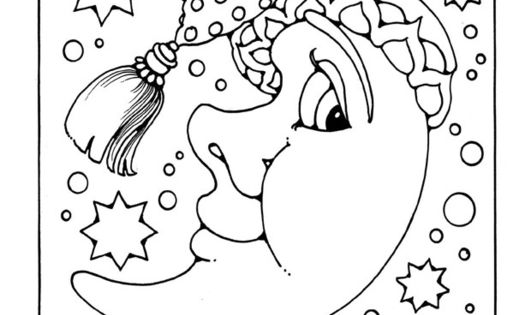 man moon coloring pages - photo#11