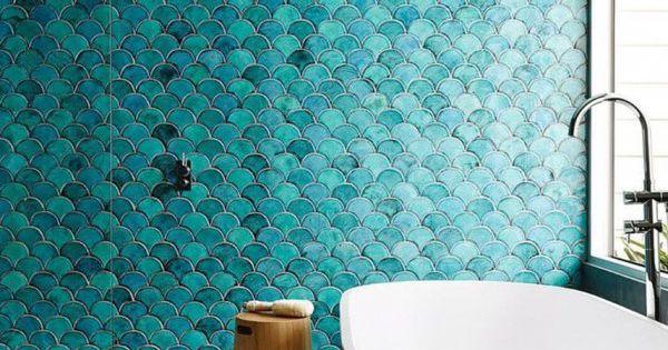 Salle de bain quelle d co pour une douche italienne for Faience salle de bain turquoise