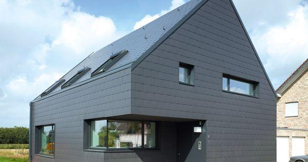 haus mit dach und fassade von eternit simple house. Black Bedroom Furniture Sets. Home Design Ideas