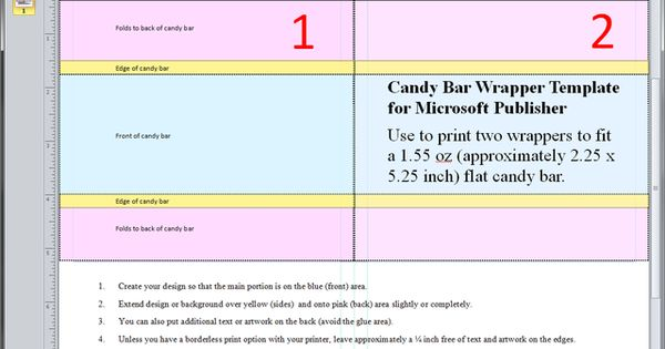 guides and resources for making candy wrappers in