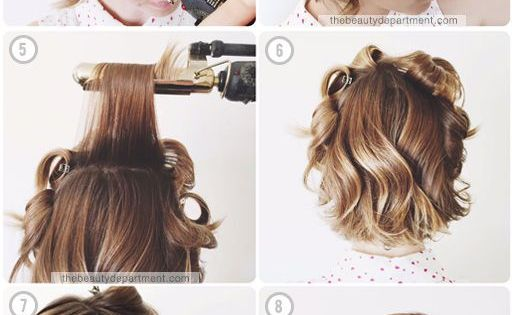 Softening Up A Wavy Bob How To Curl Short Hair Medium Hair