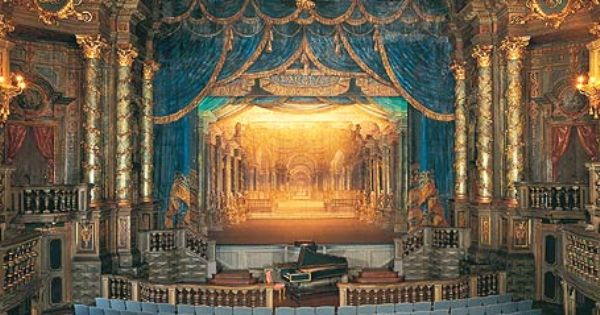 View Of The Stage Of Margravial Opera House In Germany Opera Opera House Theater Architecture