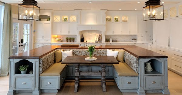 Love this kitchen tons of storage in the benches home for Atelier jacob cuisine