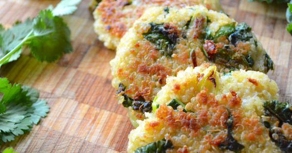 Kale & Quinoa Patties. I made these tonight..and the are AWESOME! They