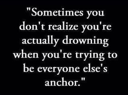 SoTrue!! Sometimes you don't realize you're actually drowing | Inspirational Quotes