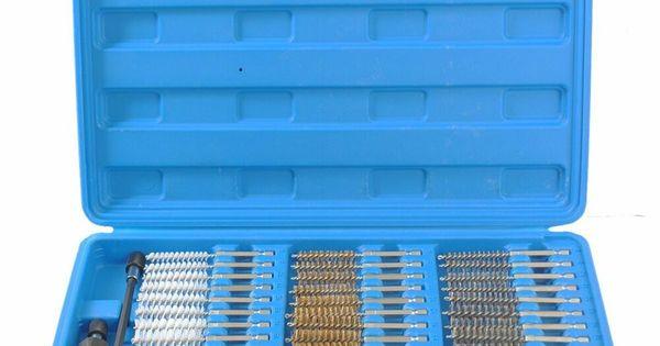 Coffret Brosses Nettoyage Ebavurage Cylindre Tube Auto Ensemble Pour Perceuses Cclife Nettoyage Cylindre Coffret