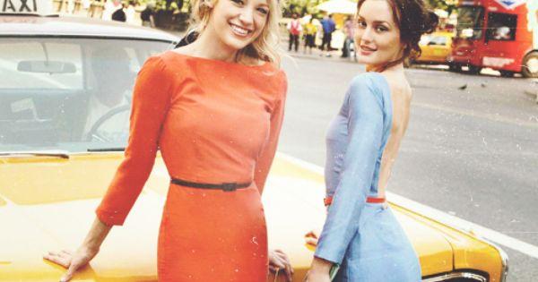 Serena and Blair - Gossip Girl Serena Van Der Woodsen And Blair Waldorf Met Steps