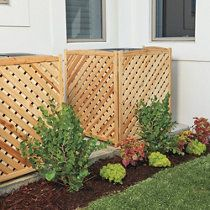 Faux Ivy Privacy Screen Air Conditioner Screen Air Conditioner Cover Outdoor Outdoor Privacy