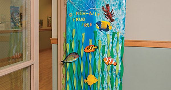 Under The Sea Door Decoration Idea With Images Ocean Theme