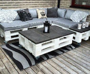 17 Idées pour fabriquer une table basse palette | DIY ...