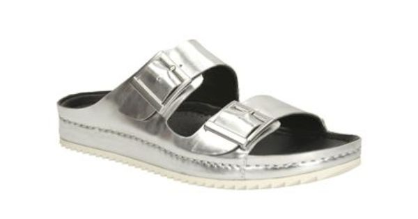 11d8c822ab89a Womens Casual Sandals - Netrix Rose in Silver Metallic from Clarks shoes