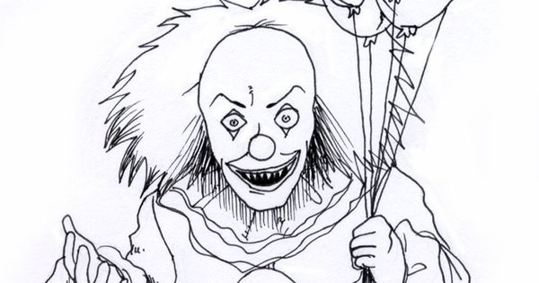 evil clown drawings Google Search