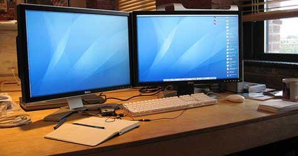 Computer Desk Inspiration Dual Monitors Freshome Com Diy Computer Desk Desk Inspiration Computer