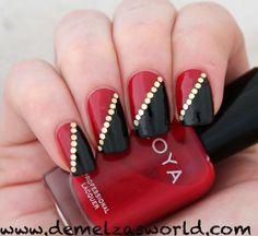 Lovely Summer Nail Art Ideas Red Nail Designs Red Nail Art