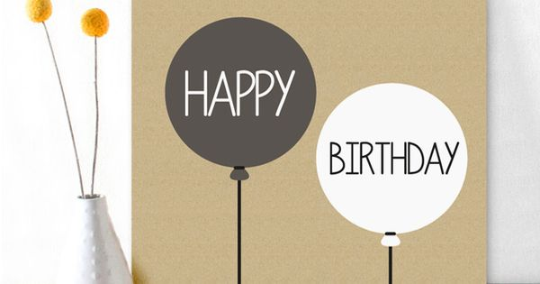 THE perfect birthdaycard for men, cool, simple but stil very stylish!