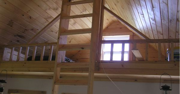 Loft and folding stairs tiny house inspirations pinterest lofts cabin and loft ladders - Folding stairs to loft plans ...