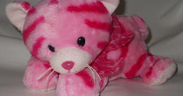 Aurora Pink Striped Milly The Cat Soft Stuffed Plush