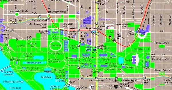 Printable Downtown Washington DC Map DC