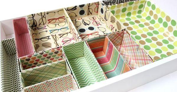 Create  Drawers Cardboard Craft Box
