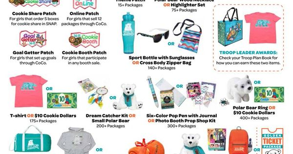 Girl scout cookie sales prizes