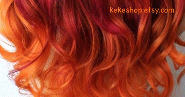 psychedelic curly red orange - photo #29