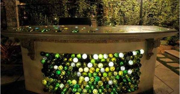 Practical Ideas On How To Design And Decorate With Glass Bottles -