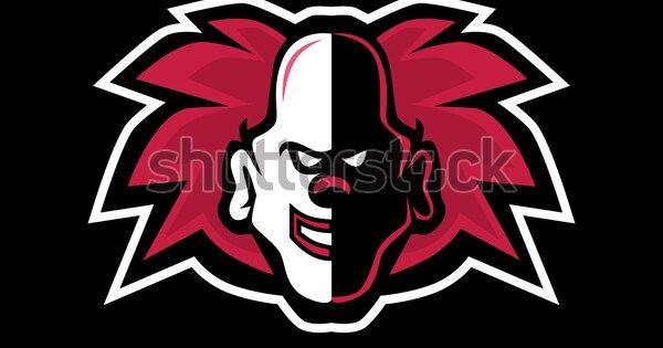Clown Head Mascot Gaming Logo Vector Stock Vector Royalty Free 1393402736 Fotografi Alam Fotografi