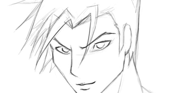 How To Draw A Cartoony Male Face Cartoon Faces Cartoon Drawings Anime Face Drawing
