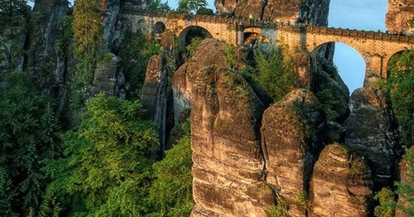 Elevated, Bastei Bridge, Germany - Would love to see this!! Wonder where