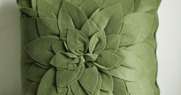 Small Green Decorative Pillow : Kells Bloom Throw Pillow 29.99 at shopruche.com. This small throw pillow in forest green ...
