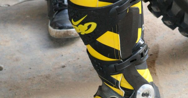 black yellow nike motocross boots boots