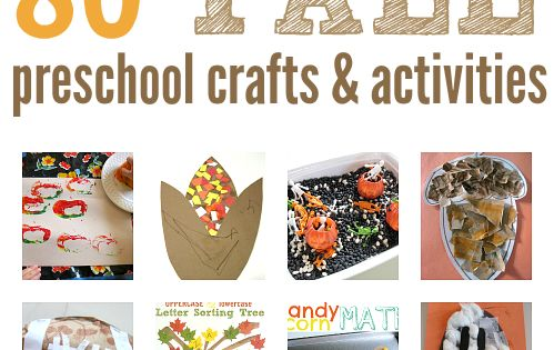 HUGE list of fall craft ideas for preschool and early elementary school.
