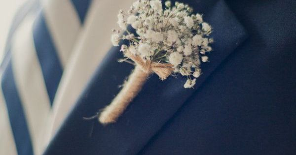 Blue suit and tie. Photography by onelove-photo.com, Floral Design by stephanieburtonfloral.com