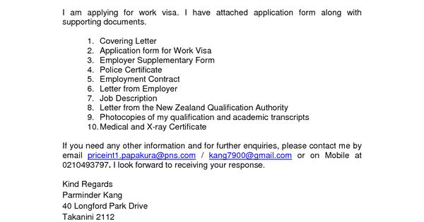 cover letter for visa application new zealand essay potna make youvisa application letter