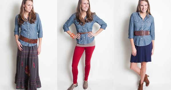 chambray styles- love my chambray button down